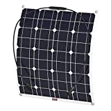 ZSPSHOP 50w Flexible Car Top Panel Solar 12v Off-Road Car RV Cargador Modificado Puede Ser Doblado