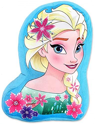 ILS I LOVE SHOPPING Cuscino 3D Shaped Sagomato per Bambini in Poliestere con la Forma sagoma Personaggio (Disney Frozen Elsa)