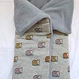 MOON-BEBE Saco de algodón universal para cuco y capazo. (GRIS)