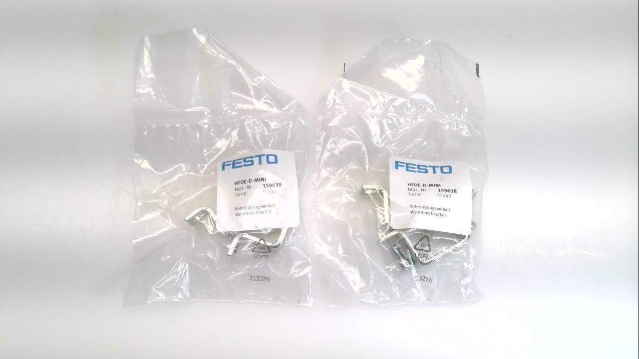 Max 65% Selling OFF Festo Hf0e-D-Mini - Lot of 2 159638 Mounting Bracket Hf0e-D-