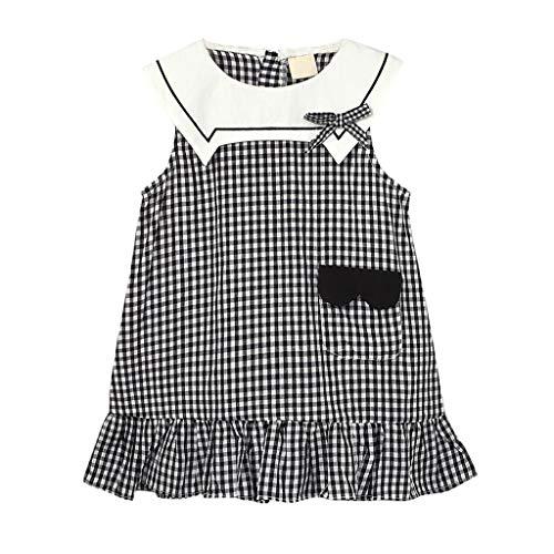 Allence Kleinkind Baby Mädchen Sommerkleid ärmellos Kleid Bogen Rüschen Plaid Prinzessin Kleider Tüll Prinzessin Kleid Spitzenkleid Kleidung