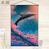 COSMORE アニメの風景 自然 田園風景 カスタム カスタマイズ オーダーメイド タペストリー ポスター 壁掛ける絵画 約70cmX100cm