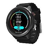 HXHH 2021 Nuevo Reloj De Buceo Inteligente Al Aire Libre 50M, Rastreador De Ejercicios Reloj Militar con Brújula Altímetro Barómetro Termómetro GPS Monitoreo De Frecuencia Cardíaca