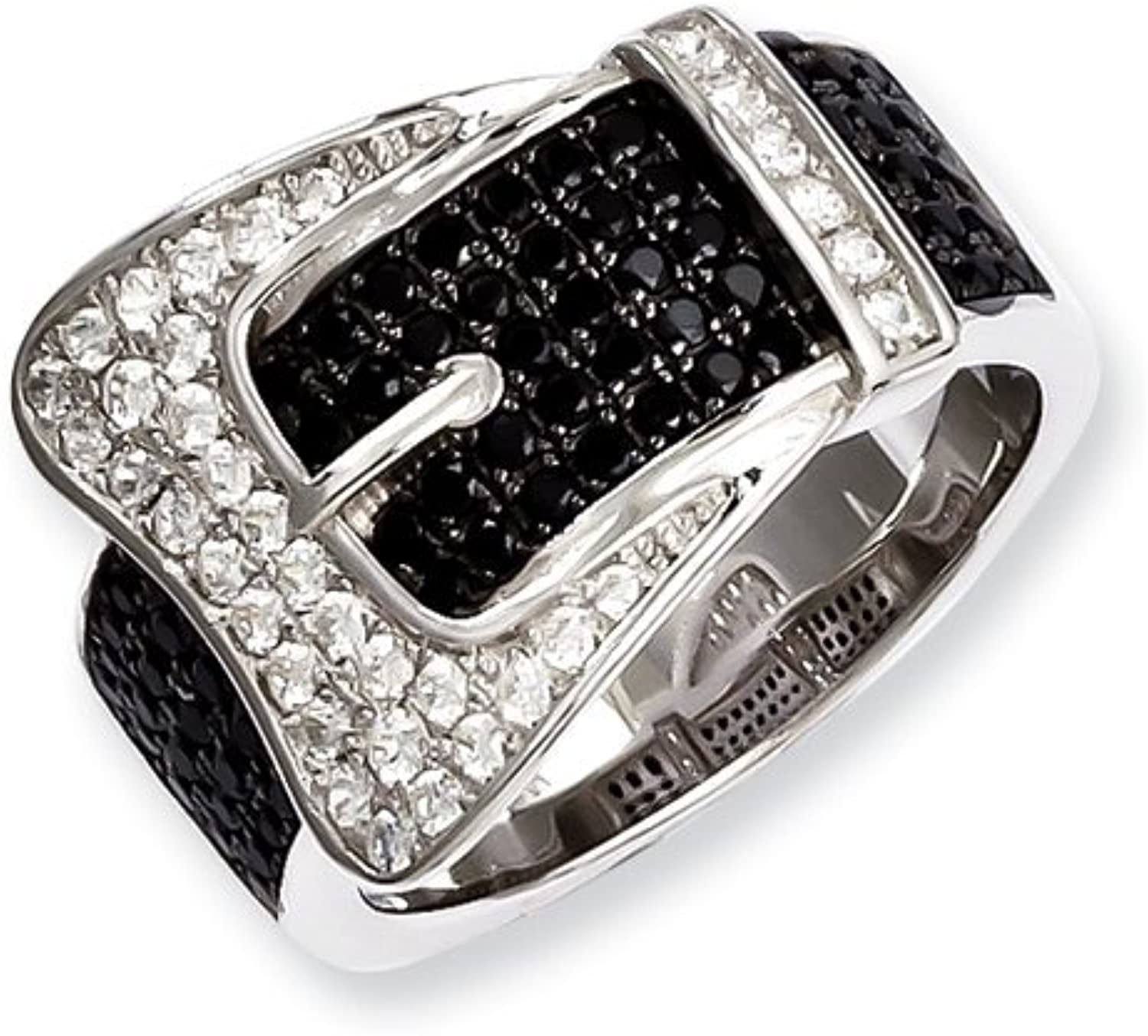 Brilliant Embers Sterling Silver & CZ Brilliant Embers Buckle Ring