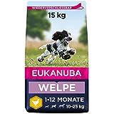 Eukanuba Welpenfutter mit frischem Huhn für mittelgroße Rassen - Premium Trockenfutter für Junior...