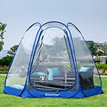 Alvantor Winter Screen House Room Camping Tent Canopy Gazebos 4-6 Person for Patios, Large Oversize Weather Pod, Premium Greenhouse Instant Pop Up Tent, Snow and Rain Protection Blue 10'×10'