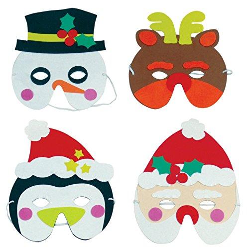 3 x Mousse Noël Masques - garçons et filles Cadeaux