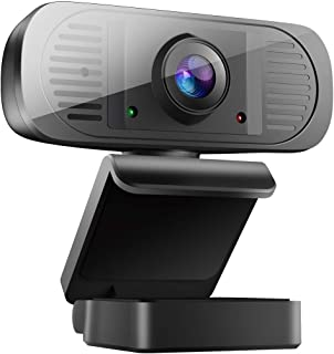 1080P USB Webcam with Microphone, HD Webcam Streaming Web Camera for Computer PC Desktop Laptop Mac, Video Calling/Conferencing/Gaming, Skype/YouTube/Zoom, Auto Focus, Plug and Play