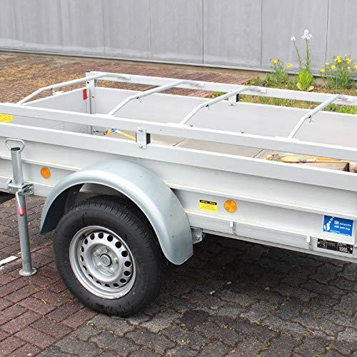 TRUTZHOLM 4X Alu-Bügel XL für Anhänger Flach-Planen verstellbar 1300-2100mm Planenstütze