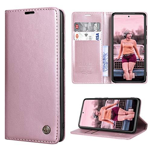 RuiPower Funda para Samsung Galaxy S20 FE/S20 FE 5G con Tapa Funda Samsung S20 FE Libro Fundas de Cuero PU Premium Magnético Tarjetero y Suporte Carcasa Samsung Galaxy S20 FE 5G/4G - Oro Rosa