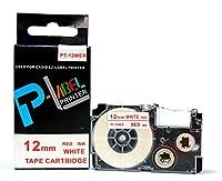 カシオ ネームランド用 互換 テープカートリッジ 12mm XR-12WER 白地赤文字