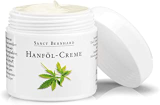 Sanct Bernhard Hanföl-Creme mit 10% echtem Hanföl Cannabis Sativa Seed Oil aus kontrolliert biologischem Anbau, Inhalt 100ml