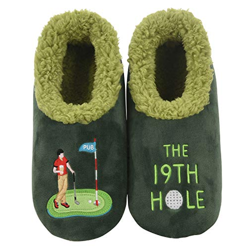 Snoozies Mens Slippers - Pairables House Slippers for Men - The 19th Hole - X-Large