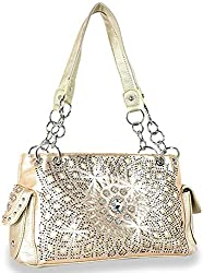 Gold Starburst Concealed With Rhinestone Handbag