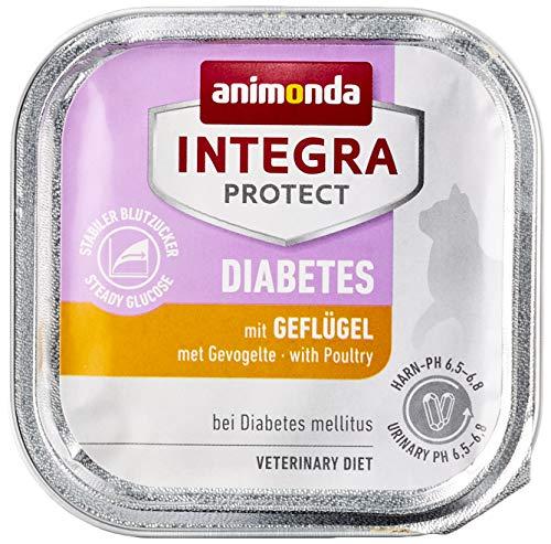 animonda Integra Protect Diabetes Katze, Diät Katzenfutter, Nassfutter bei Diabetes mellitus, mit Geflügel, 16 x 100 g
