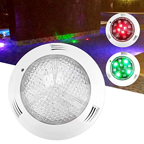 EECOO Luz Sumergible RGB 35W, Luz de Piscina con 360LED, Impermeable IP68, AC 12V, Control Remoto, Iluminación de Estanques, Lámpara Faro LED, Luz Subacuática LED para Estanque Acuario