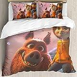 Wonder Park Ropa de cama 155 x 220 cm, JUNE Niños microfibra funda nórdica y 2 fundas de almohada, dormitorio decorativo ropa de cama impresión 3D (June4, 155 x 220 cm)