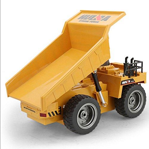 RC Baufahrzeug kaufen Baufahrzeug Bild 1: LoKauf 1:18 6CH Dumper Kipper mit Fernbedienung RC Bagger Metall Ferngesteuert für Kinder*