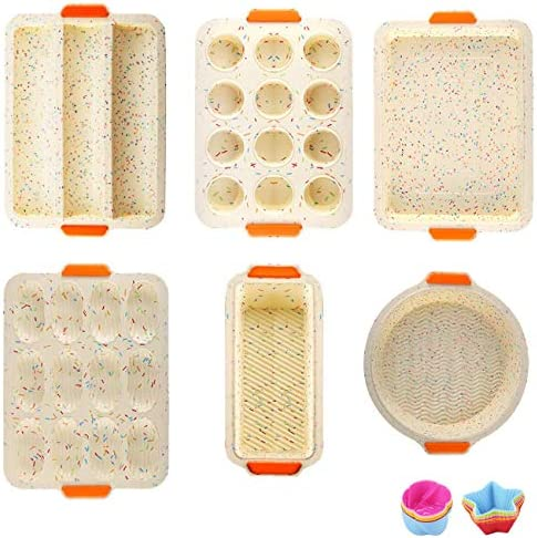 18in 1 Silicone Baking Molds Silicone Nonstick Bakeware Set With Baking Pans Cookie Sheets Muffin product image