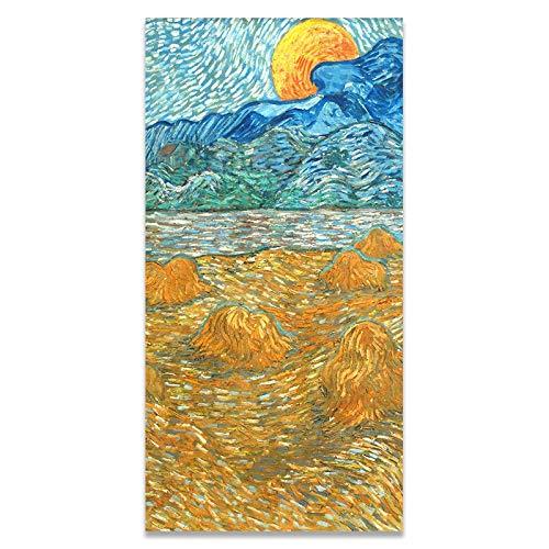 WIOIW Postimpresionismo Artista Pintor Van Gogh Obra Maestra Tierras de Cultivo Ciudad Paisaje Lienzo Pintura Arte de la Pared Cartel Abstracto Sala de Estar Dormitorio Porche Oficina Decoración d