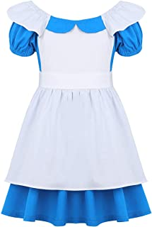d3f576993ebb TiaoBug Bebé Niñas Disfraz Vestido de Princesa Fiesta Bautizo Vestido Largo  Verano Elegante Costume de Cosplay
