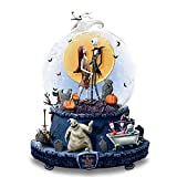 The Bradford Exchange Disney The Nightmare Before Christmas Musical Glitter Globe with Rotating Base