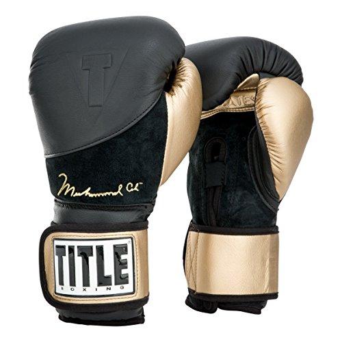 Title Boxing Ali Legacy Heavy Bag Gloves, Black/Gold, 12 oz