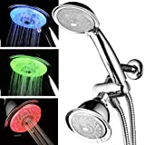 Luminex by PowerSpa 7-Color 24-Setting LED Shower Head Combo with Air Jet LED...