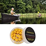 Narootec 【𝐇𝐚𝐩𝐩𝒚 𝐍𝐞𝒘 𝐘𝐞𝐚𝐫 𝐆𝐢𝐟𝐭】 Señuelos Flotantes, 30 Unids/Lote Carp Fishing 10 / 12mm Foam Pop Up Soft Pellets Baits(10MM-Amarillo y sin Sabor)