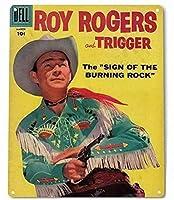 アメリカン雑貨 名作西部劇映画 愛馬トリッガー のポスター風看板 メタル看板 映画ポスター ロイ・ロジャース トリガー ROY ROGERS TRIGGER インテリア雑貨 ガレージ おしゃれ