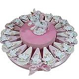 Sindy Bomboniere Torta Portaconfetti Magnete Unicorno (Torta da 20 fette, Bambina)