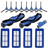 ZRF Accesorio para Eufy RoboVac G10 G30, RoboVac G30 Edge, RoboVac G10 Aspirador Robot híbrido, 2 Cepillo principal, 4 Filtros, 4 Cepillos laterales, 4 Paño de limpieza, 1 Cepillo de limpieza