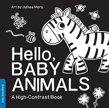 Hello Baby Animals  A High-Contrast Book