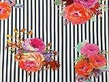 Herz Stoffe Österreich 1 m Jersey Große Blumen Blüten