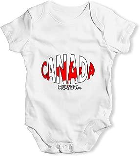 Bodysuit Baby Romper Canada Rugby Ball Flag