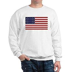 CafePress American Flag HQ Classic Crew Neck Sweatshirt White
