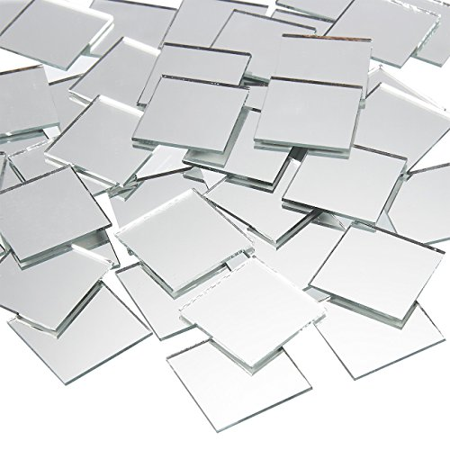 120-Pack Juvale Square Mirror Tiles, Arts and Crafts Supplies (1 x 1 in)