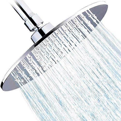 ZQG regendouche kop, 8,5 inch grote hoge druk regen douchekop ABS Poolse chroom afwerking met filter om anti-klomp anti-lek, geweldige douche ervaring voor badkamer thuis hotel
