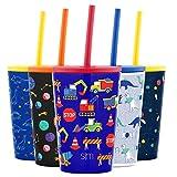 Simple Modern Kids Classic Taza Termica para Niños Botella de Agua Aislada con Tapa Prueba de Salpicaduras y 2 Pajitas Reutilizables Termo de Metal de Acero inoxidable sin BPA Para Bebes Niños y Niñas