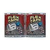 Flex Tape Rubberized Waterproof Tape, 4' x 5' Clear (2 Pack)