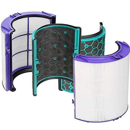 Ersatz Langlebiger HEPA Filter und wiederverwendbarer innerer Aktivkohlefilter passend für Dyson TP04 HP04 DP04 Pure Cool Desk Fans Luftreiniger