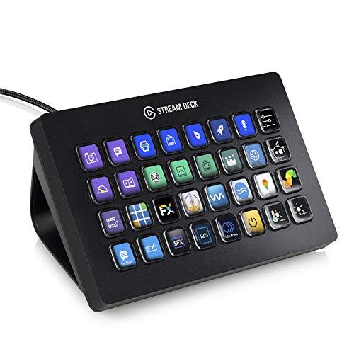 Elgato Stream Deck XL Individuale Controllo Creazione di Contenuti in Diretta con 32 Tasti LCD Personalizzabili, per Windows 10 e MacOS 10.13 o Successivi, Nero