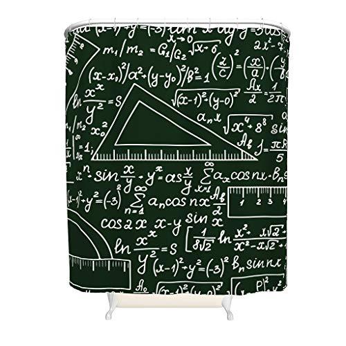 CATNEZA Duschvorhang - Mathe-Formel Stilvielfalt Modernl Rostfrei -Math Badewannenvorhänge Set Mit Haken White 120x200cm