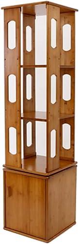 conveniente Librerías Estante para Libros Libros Libros giratoria Sala de Estar Estantería Simple Estantería de bambú Simple de Estudiante (Color   Wood Color, Talla   37x37x146cm)  tomar hasta un 70% de descuento
