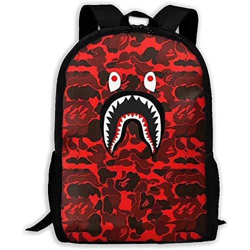 Bape Shark Face Adult Rucksack Schultasche Business Rucksack Travel Pack
