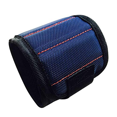 Tool Bags - Electrician Bag Magnetic Wristband Strong Magnets Oxford Cloth Pocket Wrist Pouch Drill - Husky Milwaukee Hard Belt Gatorback Drill Bike Pouches Combo Bottom Heavy Electricians Hva