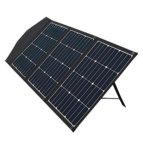 オウルテック ソーラーパネル 120W PD 折りたたみ式 スタンド ショルダーストラップ 10種類の変換プラグ 1年保証 ブラック OWL-SLP120W-BK