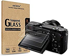 (3-Pack) Screen Protector for Sony DSLR Alpha Nex-7 NEX-6 NEX-5 A6000 A6300 A5000 Camera, Akwox Anti-scrach Tempered Glass 9H Cover