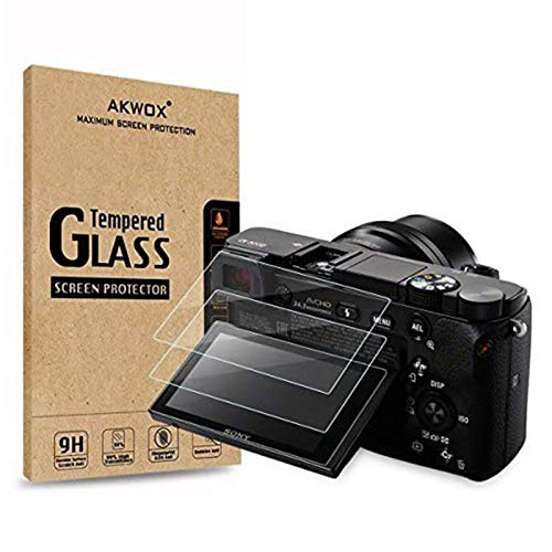 3 Stück Schutzfolie für Sony DSLR Alpha A6000 A6300 A5000 NEX-3 NEX-5 NEX-6 NEX-7 Akwox 0.3mm 9H Härtegrad Panzerglasfolie für Sony Kamera Kratzfest Glasfolie