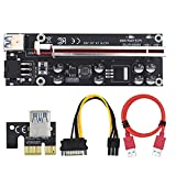 Henreal Riser PCI-E Mejorado con luz LED Cable de extensión 3.0 de 60 cm confiable, Estable y Seguro Conveniente para Plataformas de minería GPU